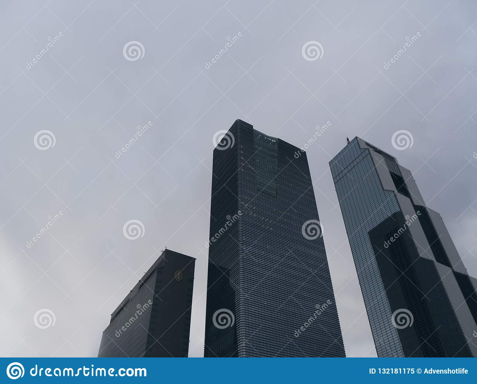 High buildings in Seoul city, Bottom view