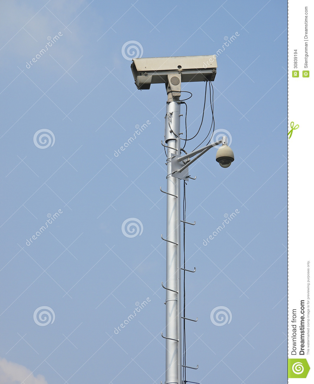 High Cctv Pole Stock Photo Image Of Protection Safety