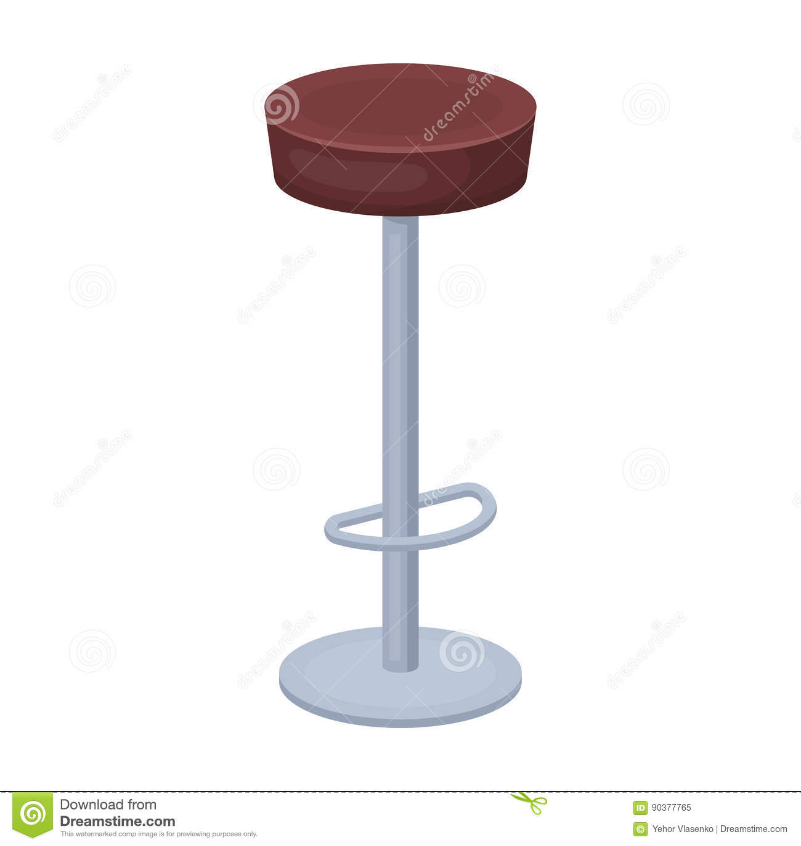 High Chair Seat Near The Bar Bary Chair To Relax Pub Single Icon
