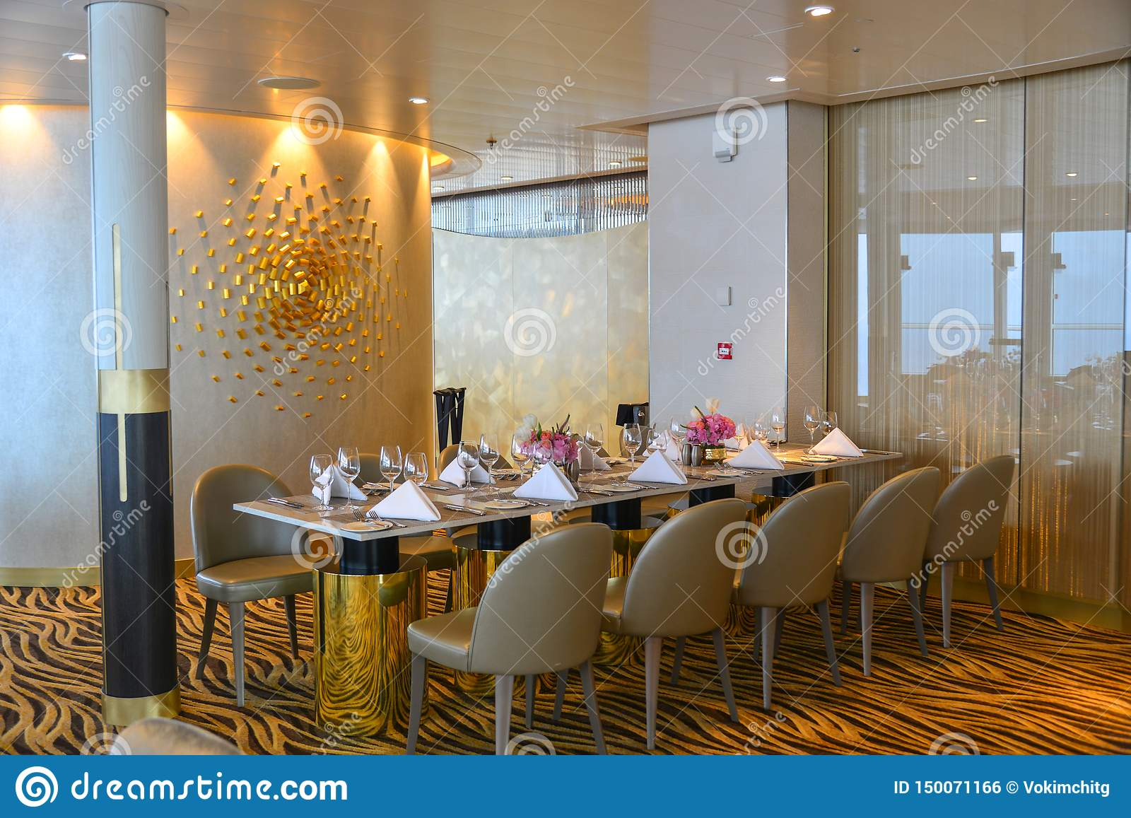 High Class Luxury Restaurant Interior Stock Photo Image Of Interior Cutlery 150071166