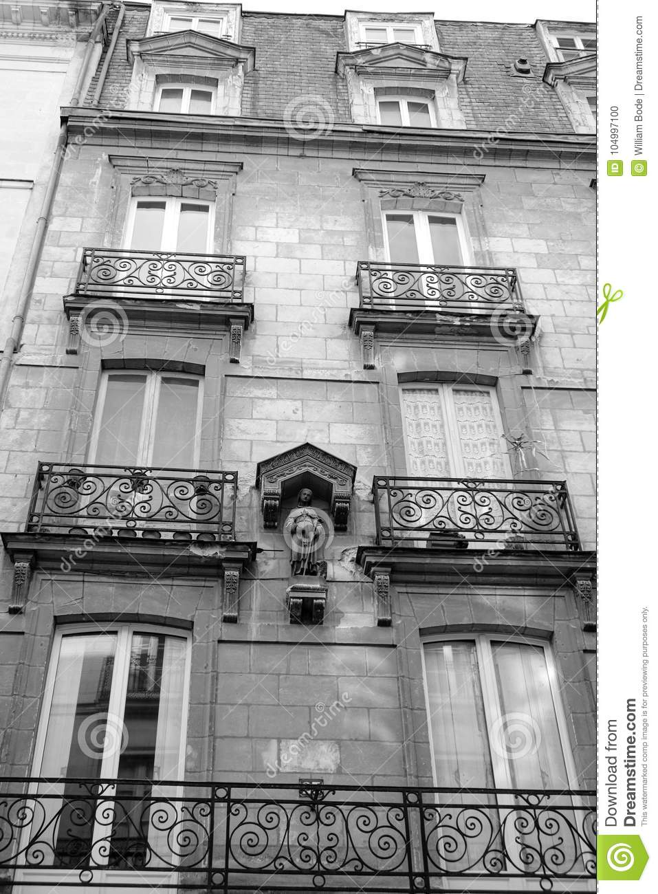 Victorian style french apartment with patron saint stock for Victorian style apartment