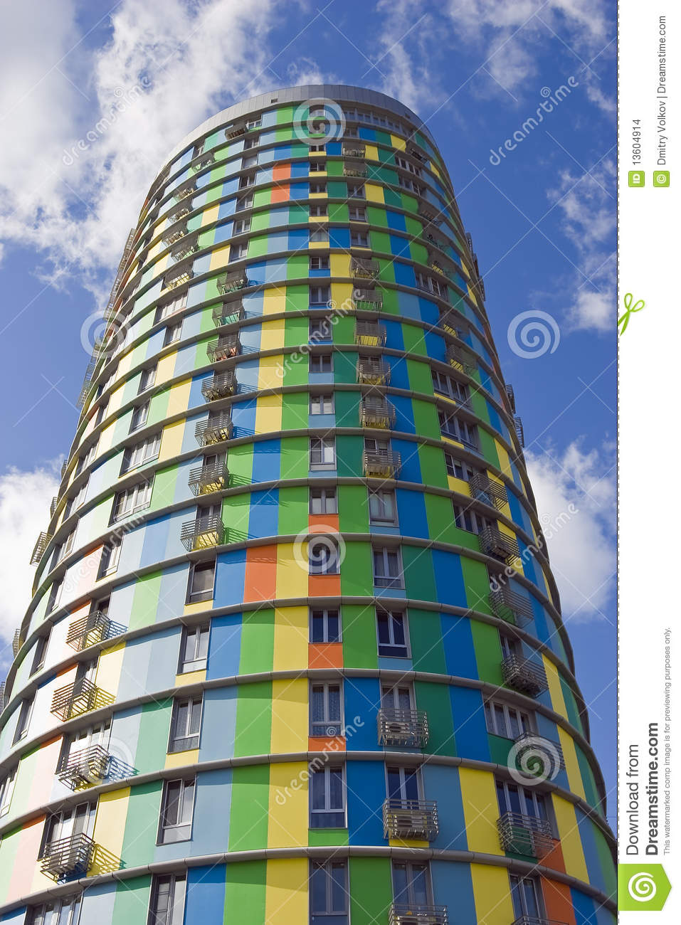 High cylindrical building