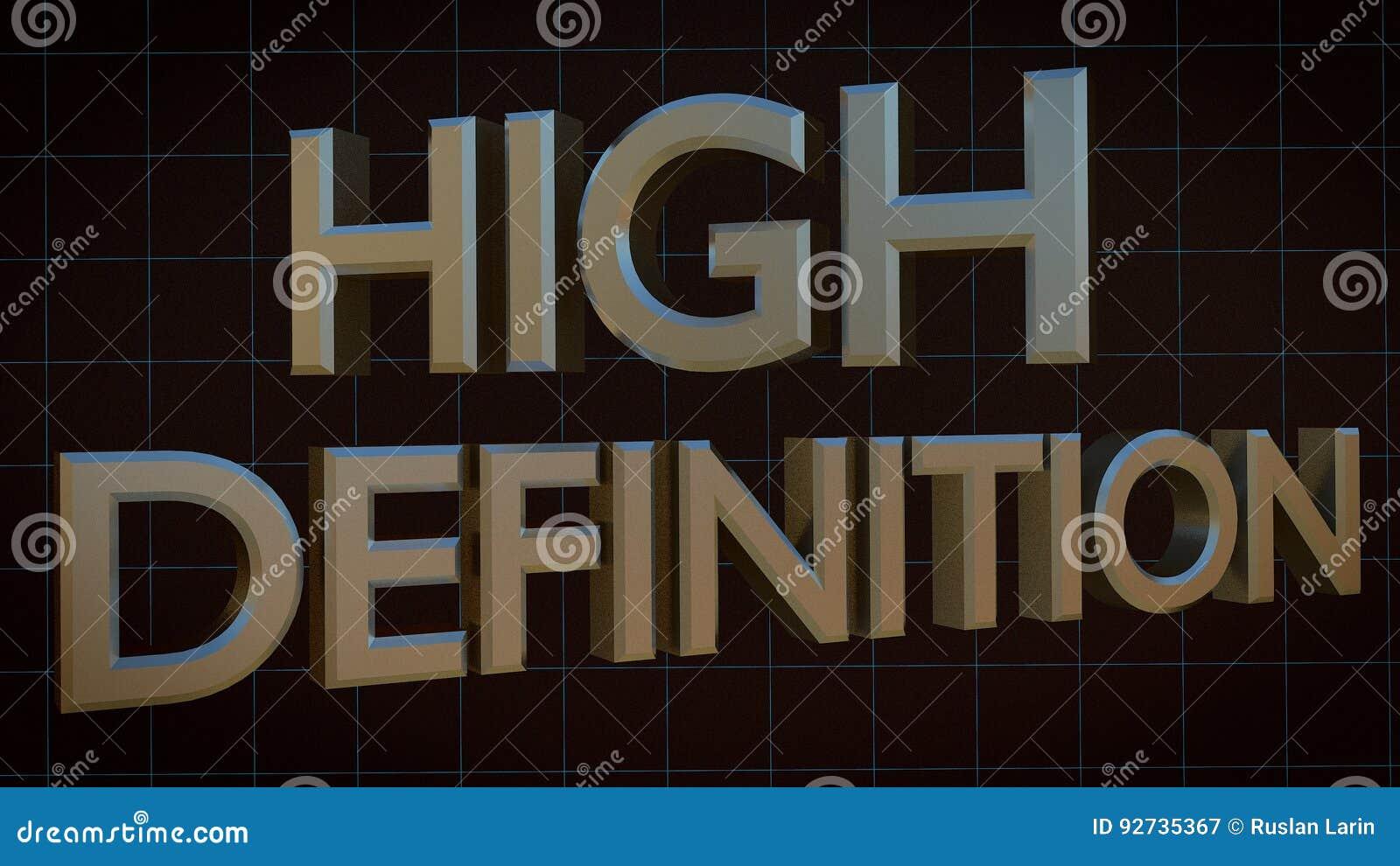 High Definition 3d Text In Blue Digital Grid Stock Illustration