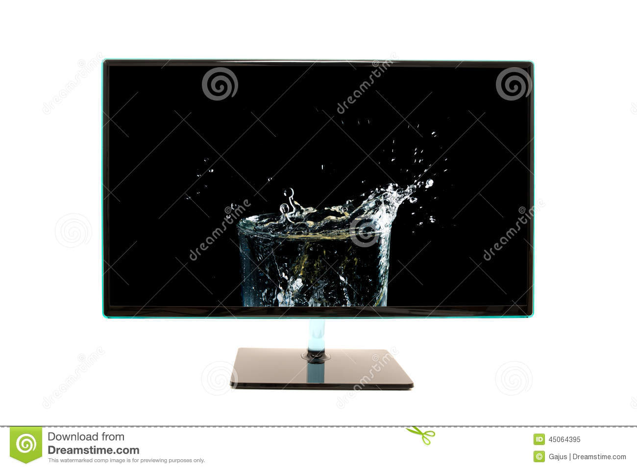 high definition modern computer monitor or television screen showing images frompo. Black Bedroom Furniture Sets. Home Design Ideas