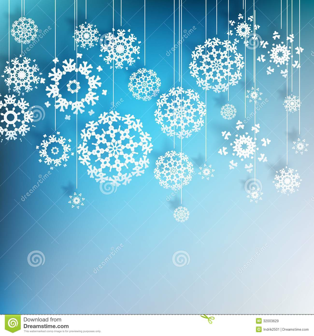 High Definition Snowflakes On Blue. EPS 10 Royalty Free