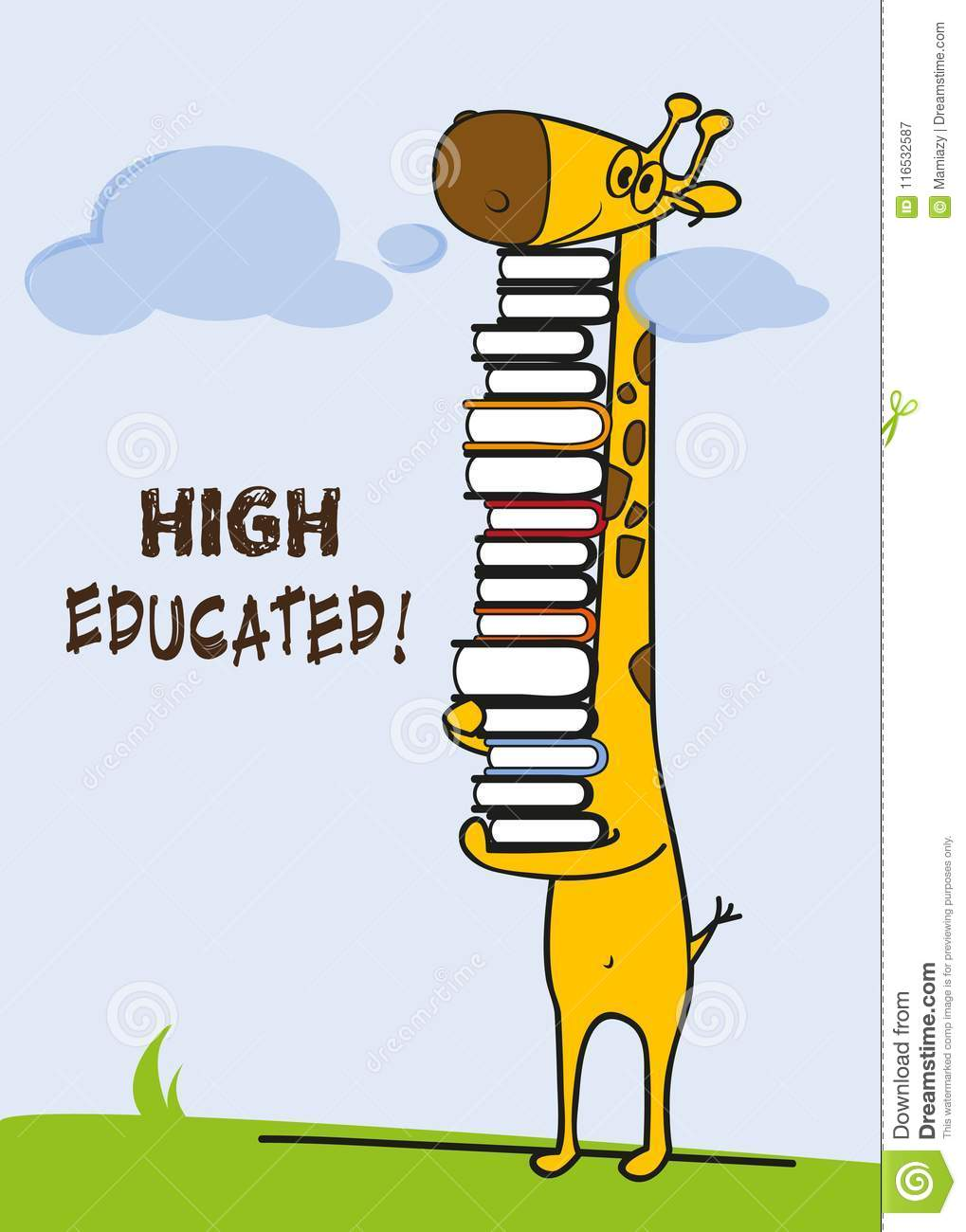 High Educated Giraffe Student Master Student Greeting Card