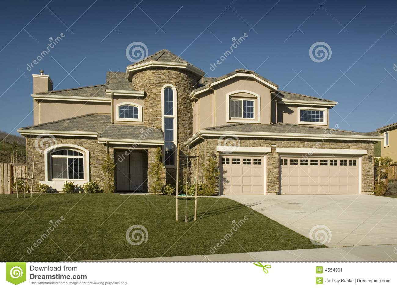 High End Tract Semi Custom Home Stock Image Image 4554901
