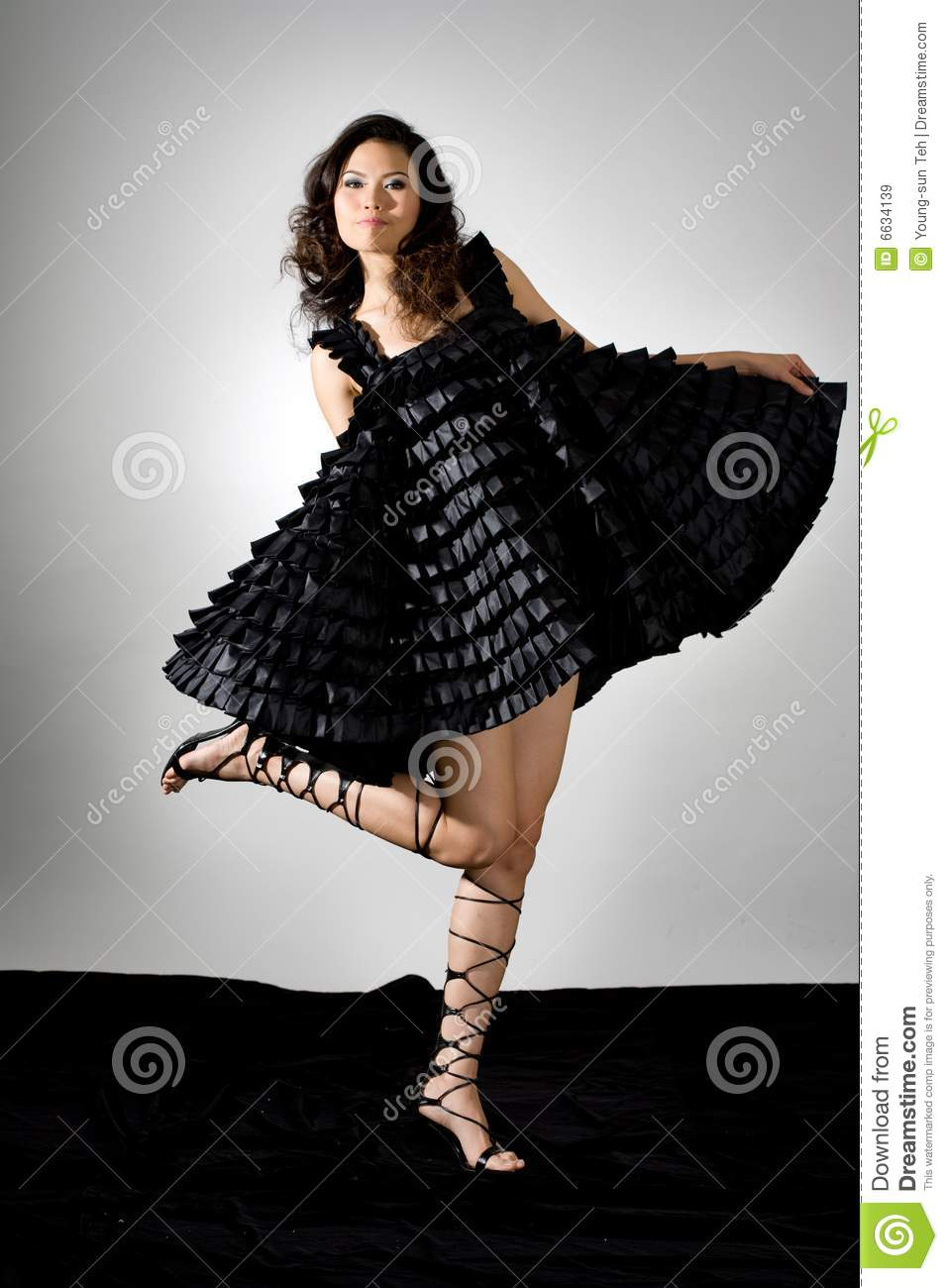 High Fashion Asian Model Royalty Free Stock Images Image