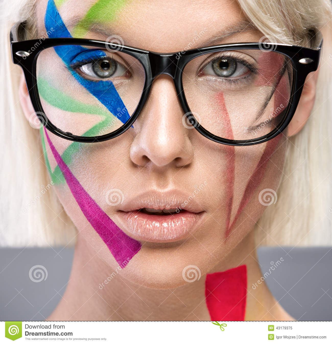 High Fashion Look With Glasses Stock Image