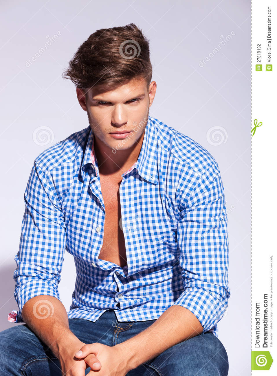 High Fashion Male Model Sitting Stock Photography - Image ...