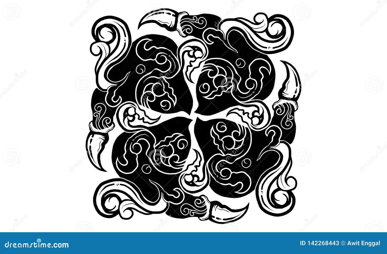 fc1d1742441a1 high heaven ornament ancient illustration design torn dark leaf traditional  natural tattoo print shirt ethnic cultural culture myth magic original ...