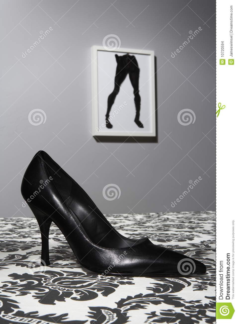 high heel shoe on table stock images image 10720594