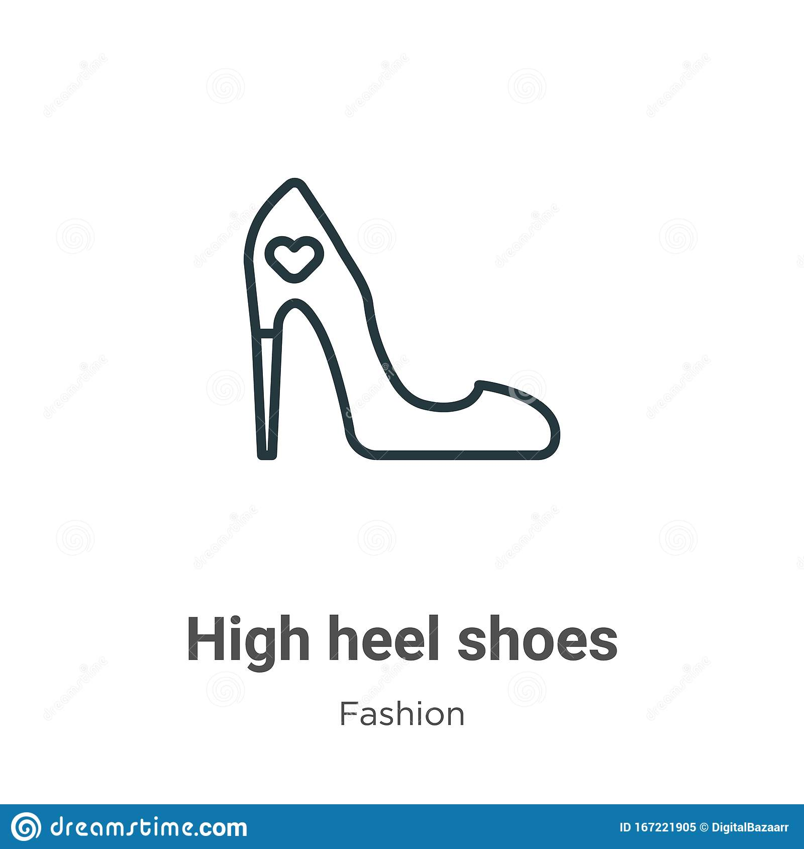 High Heel Shoes Outline Stock Illustrations – 21,9221 High Heel In High Heel Template For Cards