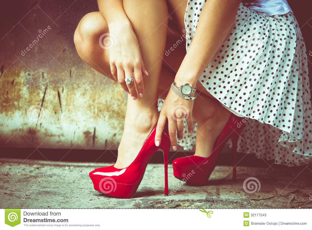 Women In High Heel Pumps