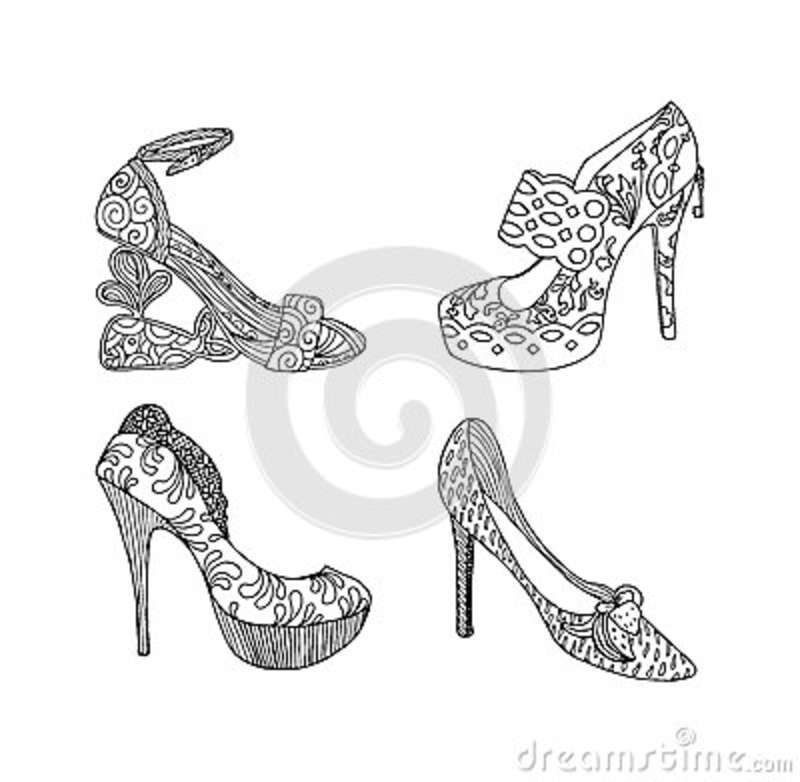 High Heel Shoe Clipart Black And White All About Clipart