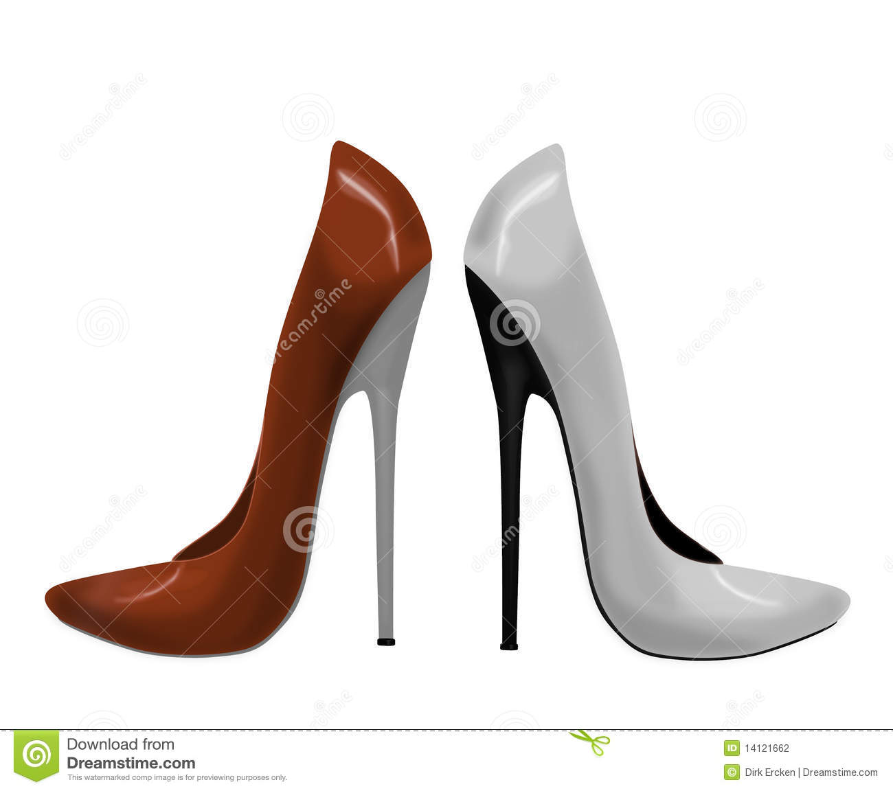 High Heels Red White Women Shoes Fashion Stiletto Stock ...