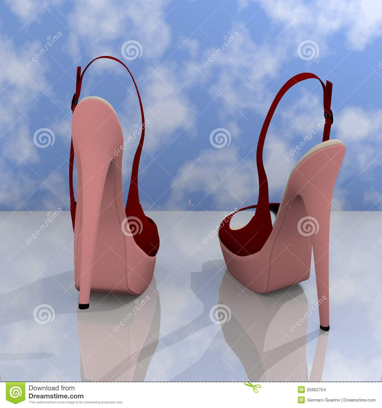 Stock Images: High heels shoes