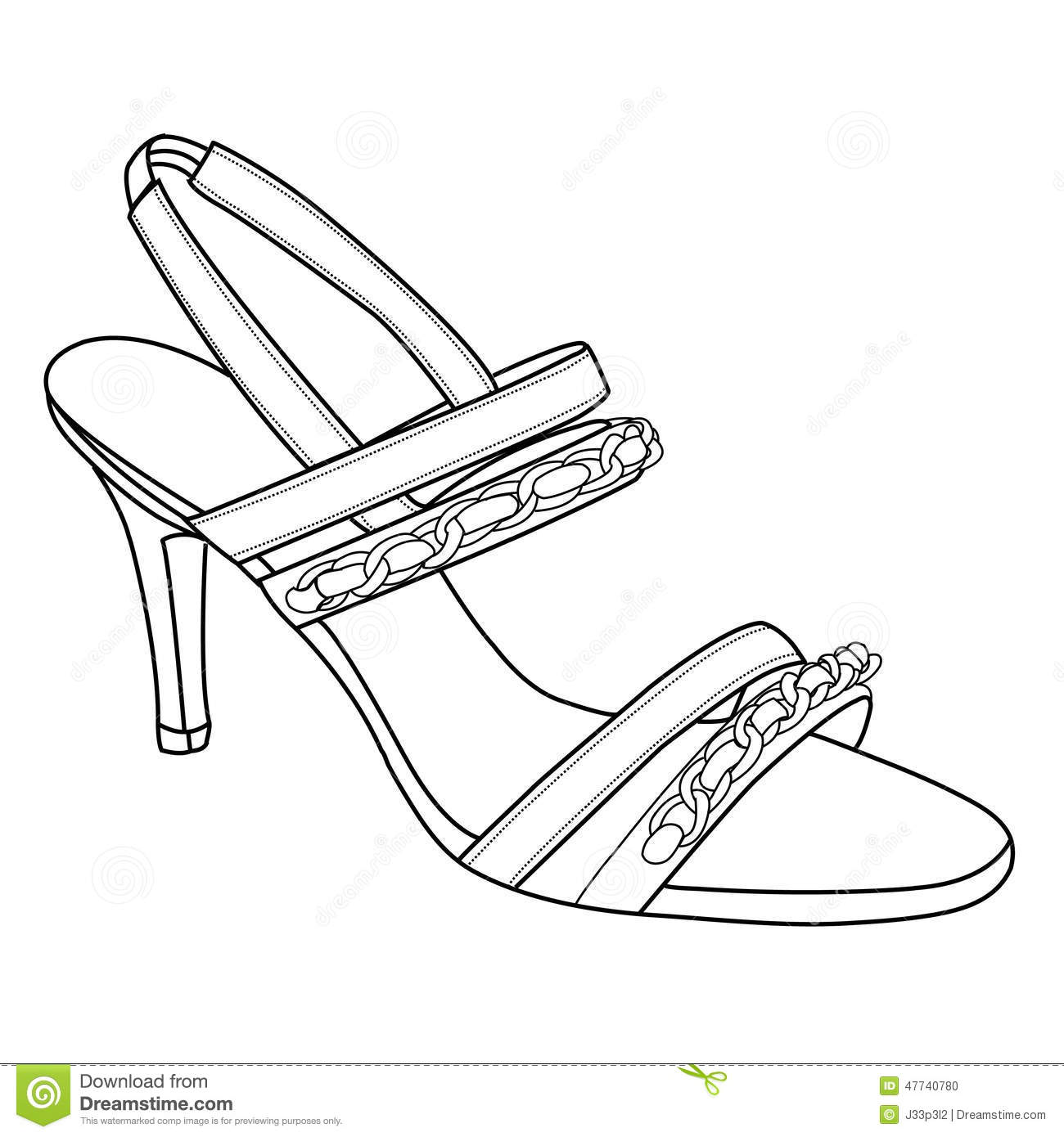 High Heels Shoes Stock Vector Illustration Of Female