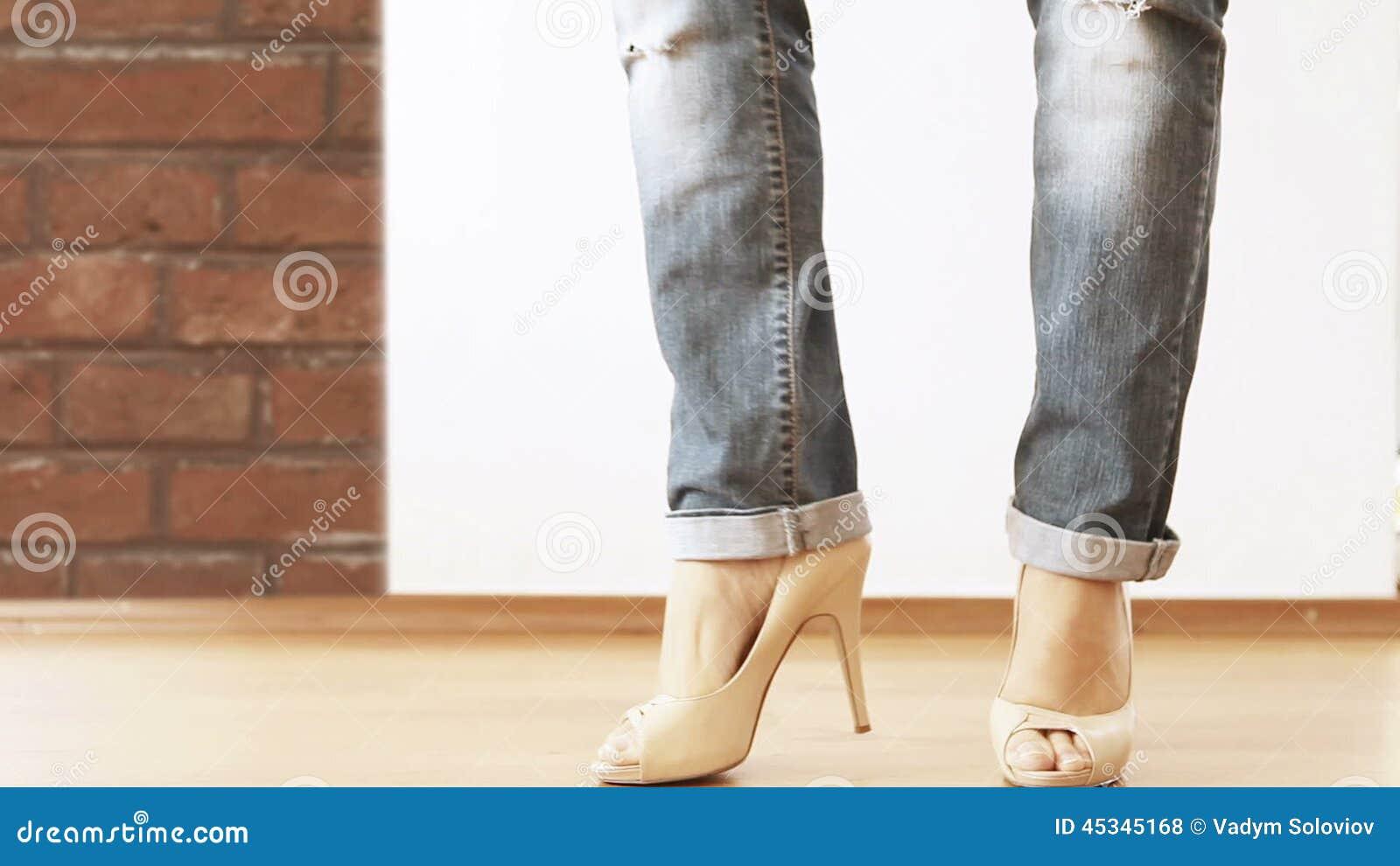 Mature heels video