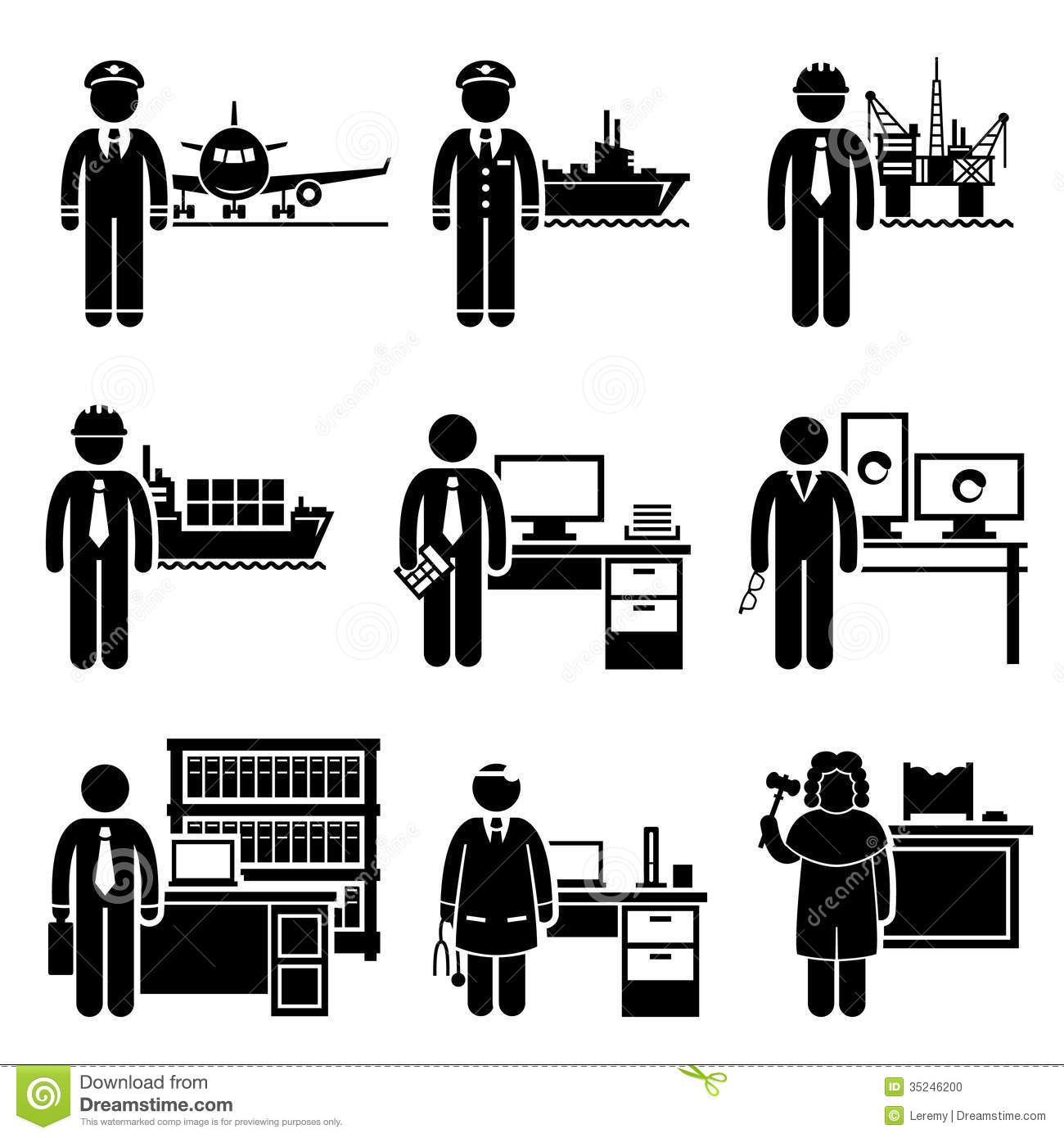 Careers: High Income Professional Jobs Occupations Careers Stock