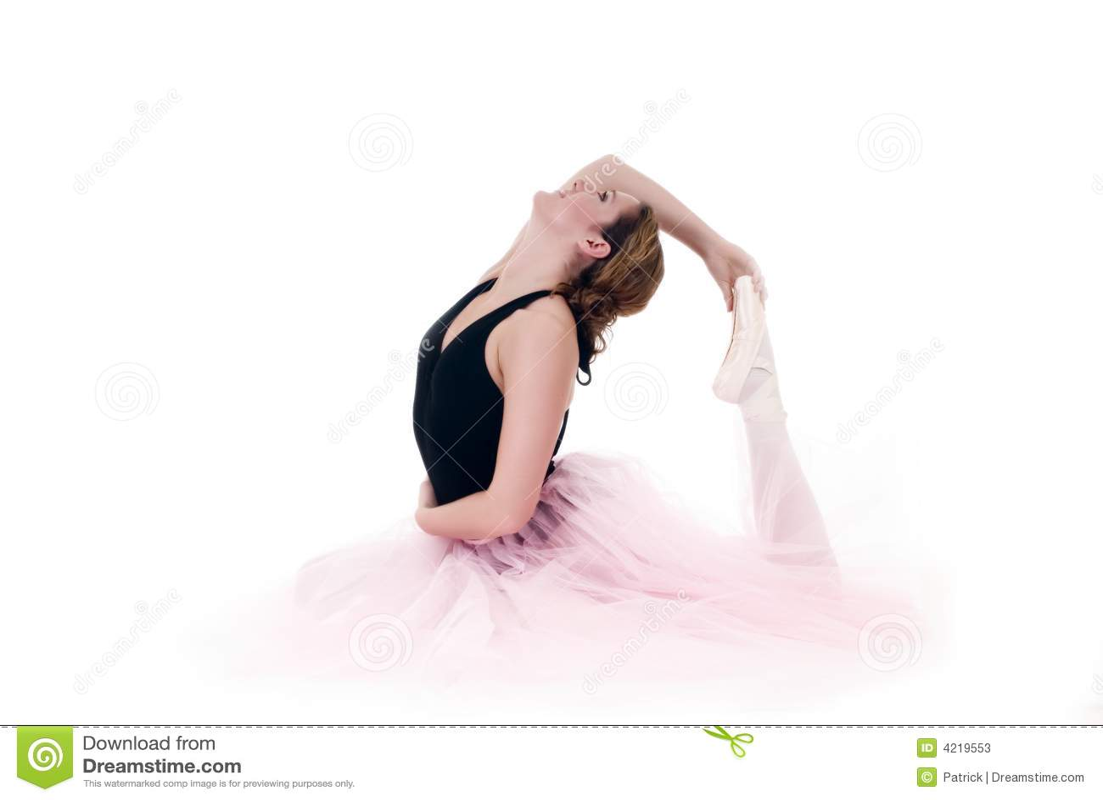 High key Pretty ballerina