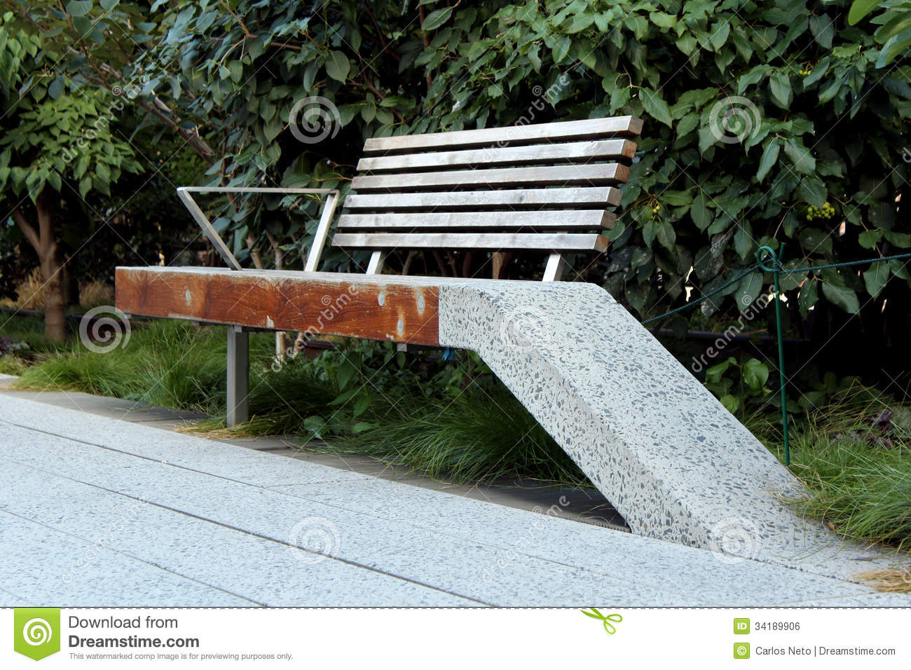 High Line (Bench Detail). New York City. Royalty Free ...