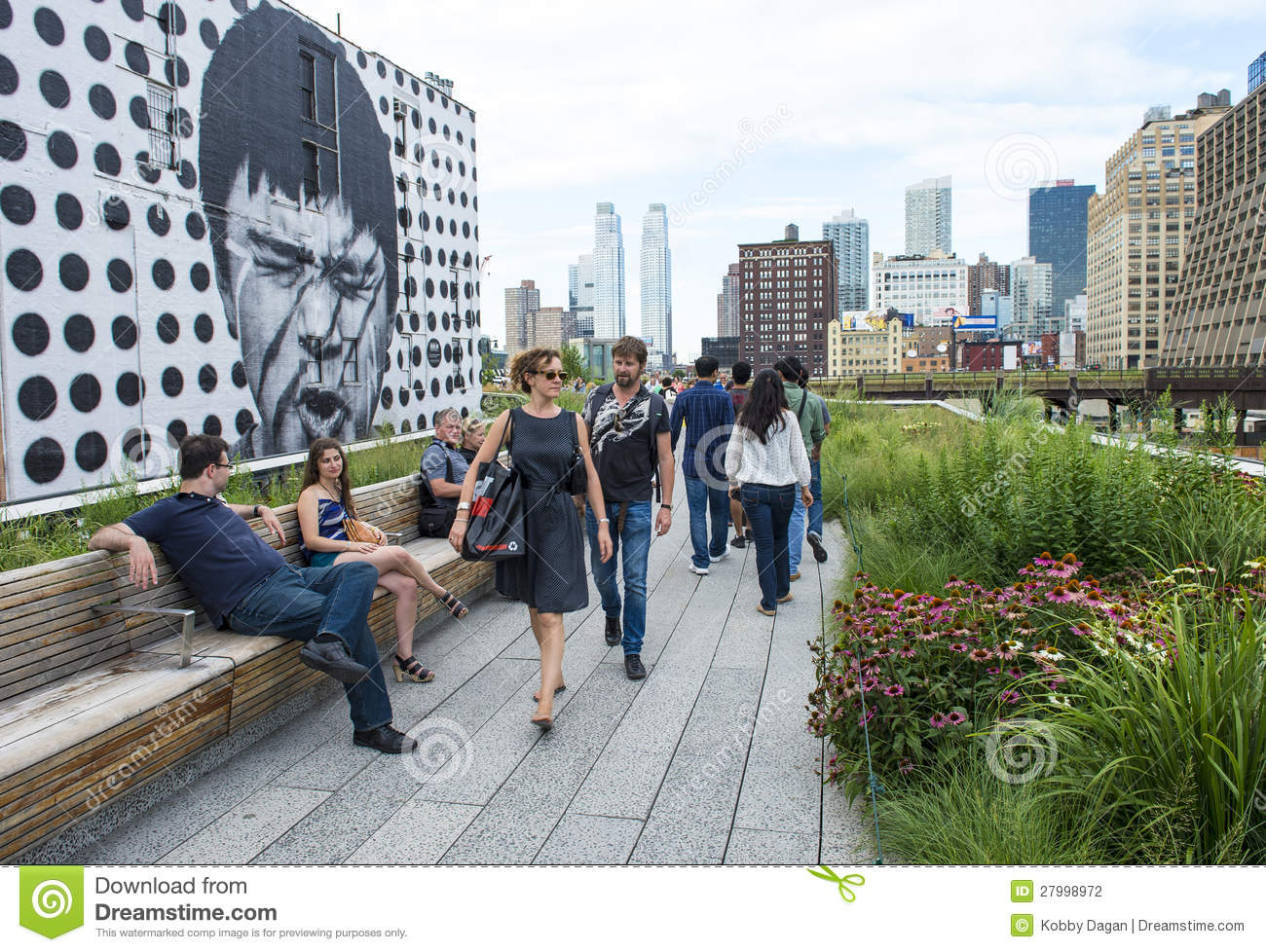 High line park in new york editorial photography image of for Things to do in nyc manhattan