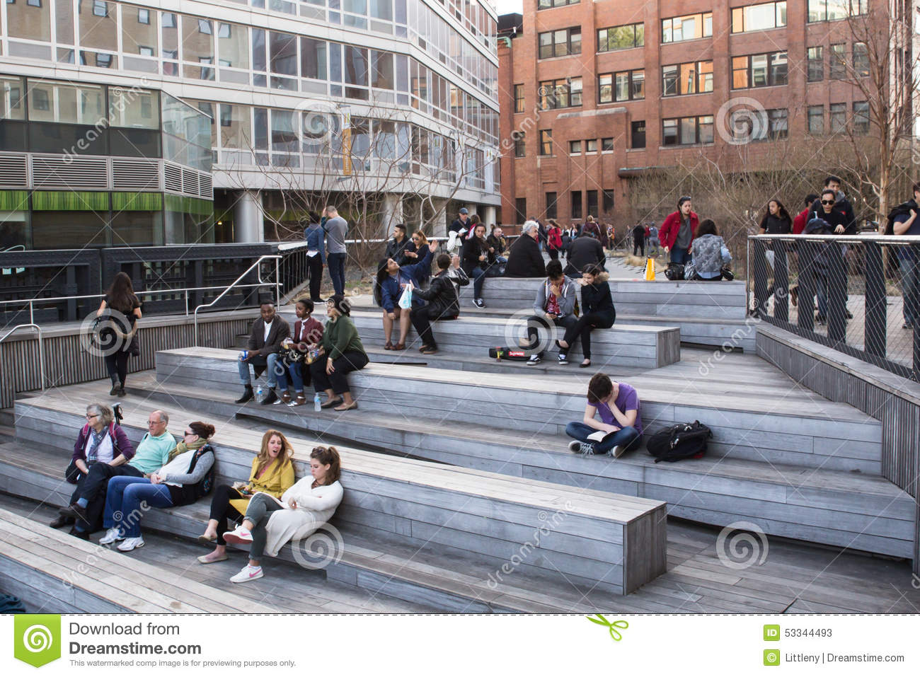 HIGH LINE PARK Editorial Stock Photo Image 53344493