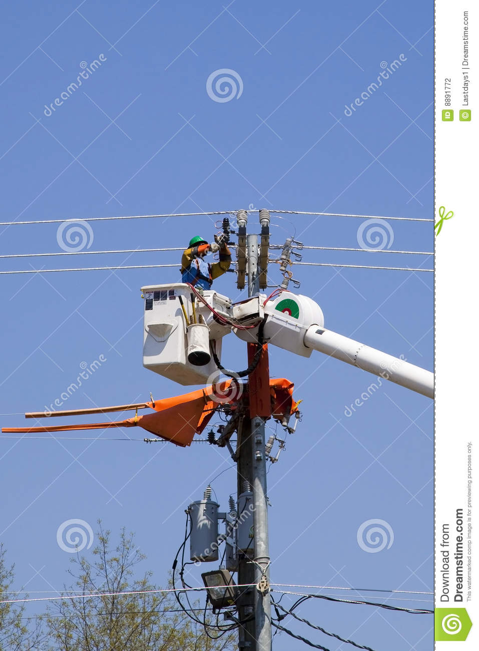 High lines construction stock photo  Image of line, electricity