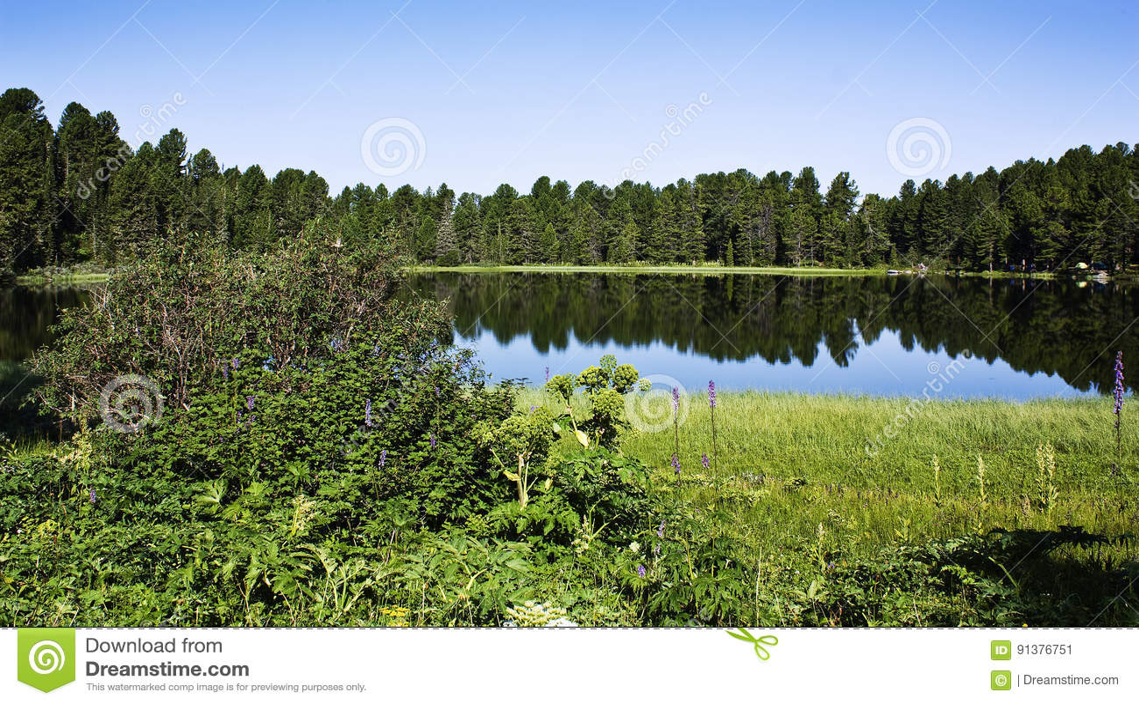 High mountain, inaccessible lake