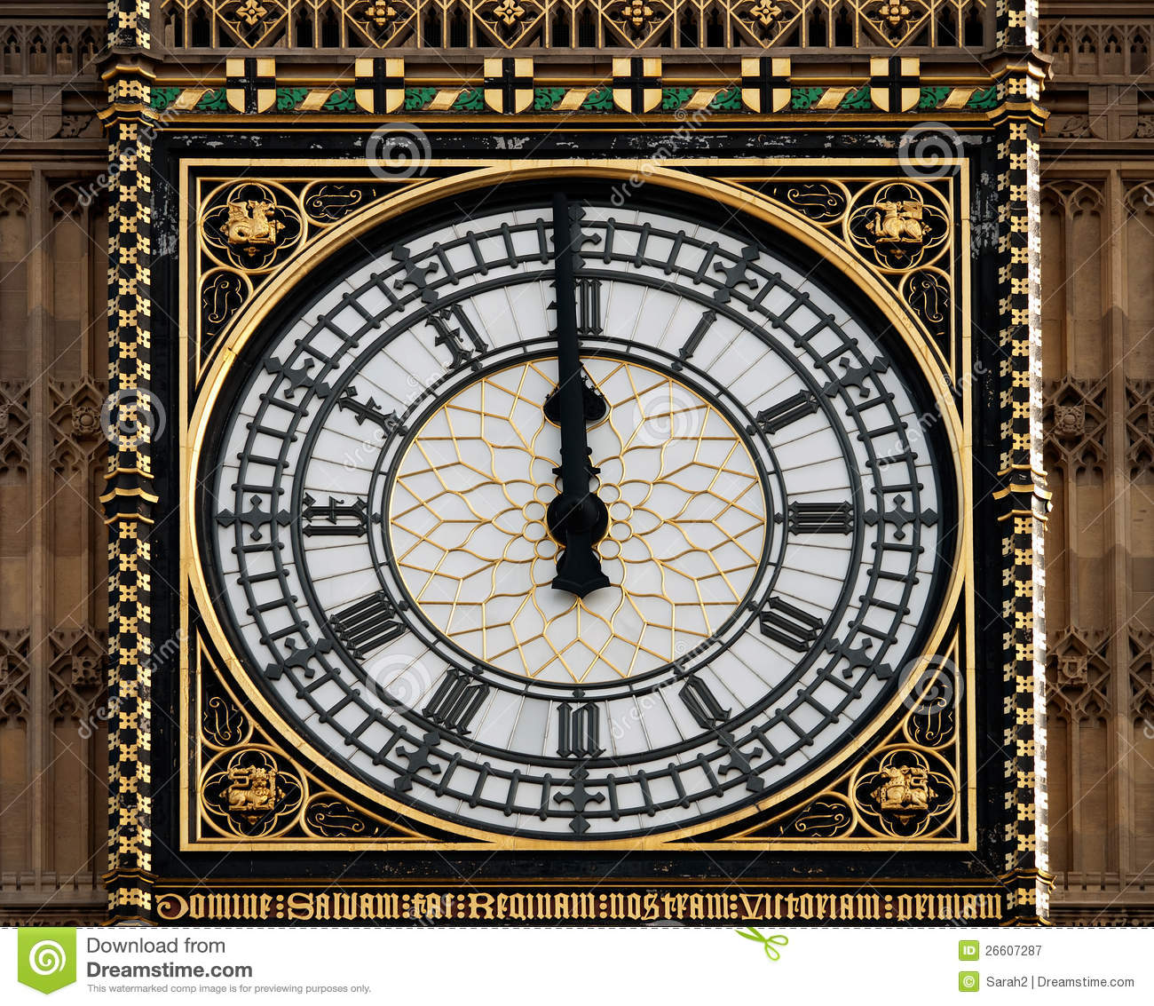 High Noon At Big Ben, London,UK Royalty Free Stock ...