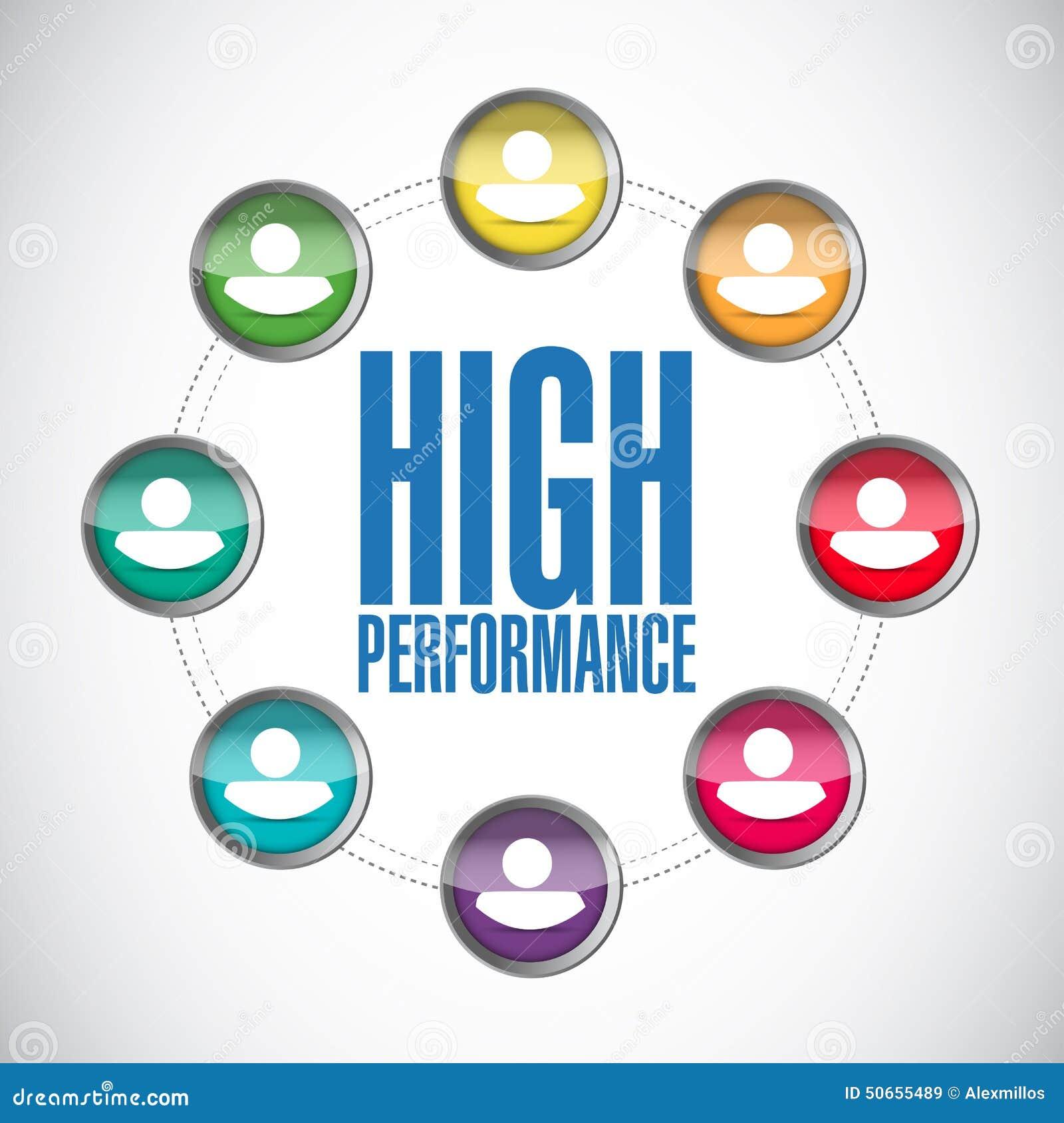 High Performance People Diagram Illustration Stock ...