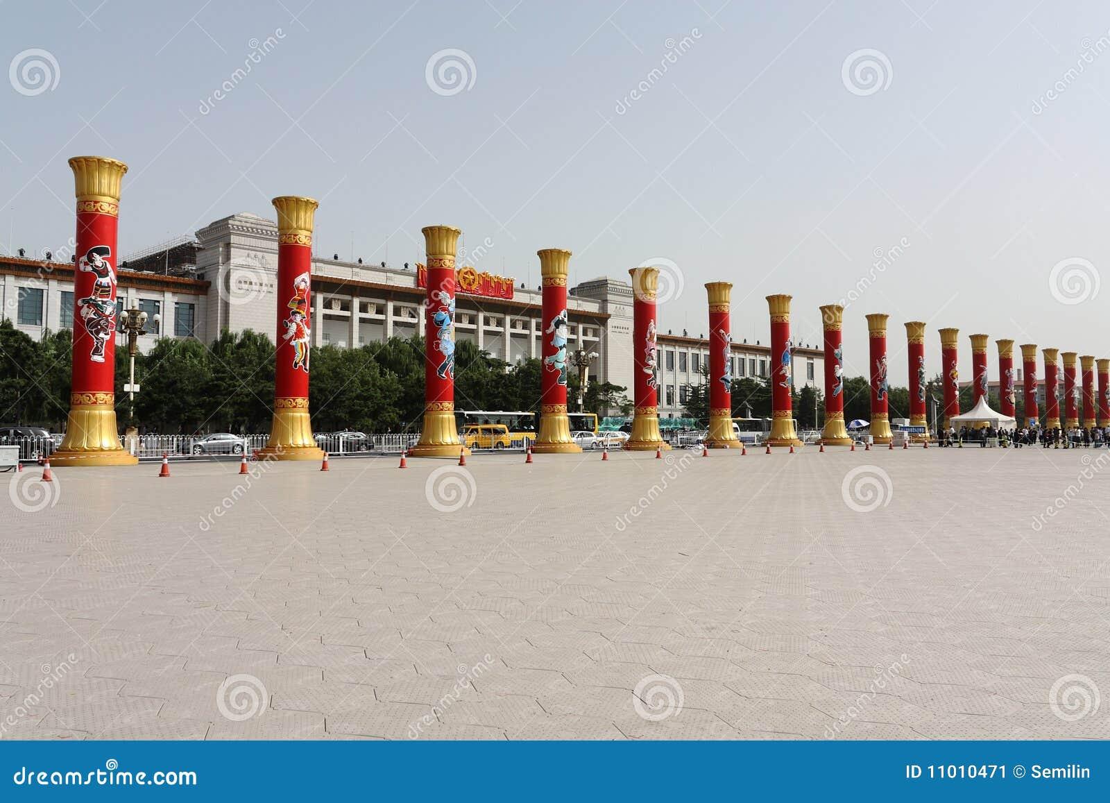 High pillars for 60th anniversary China
