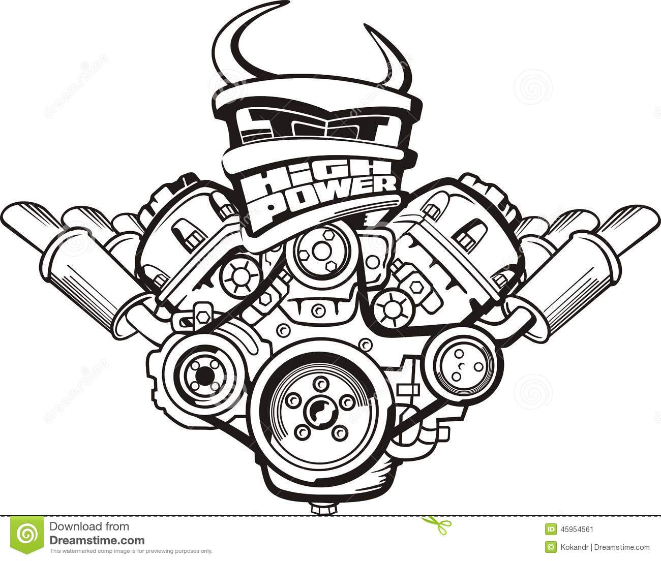 turbo engine drawing  turbo  free engine image for user