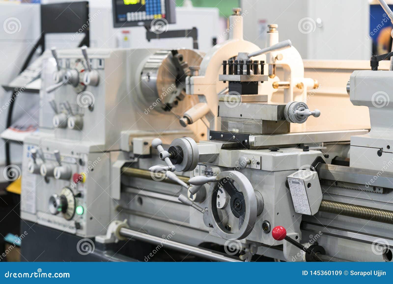 High Precision Manual Lathe Machine Stock Image Manual Guide