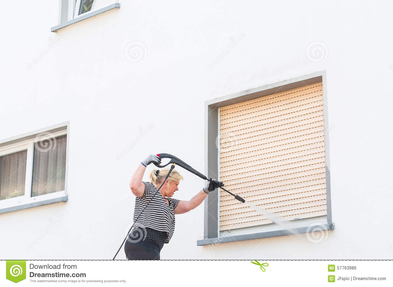 High Pressure Cleaning Stock Photo Image 57763986