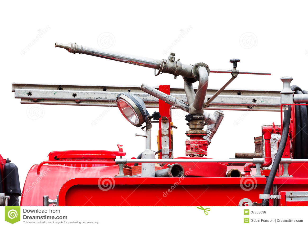 High pressure fire sprinklers royalty free stock photos