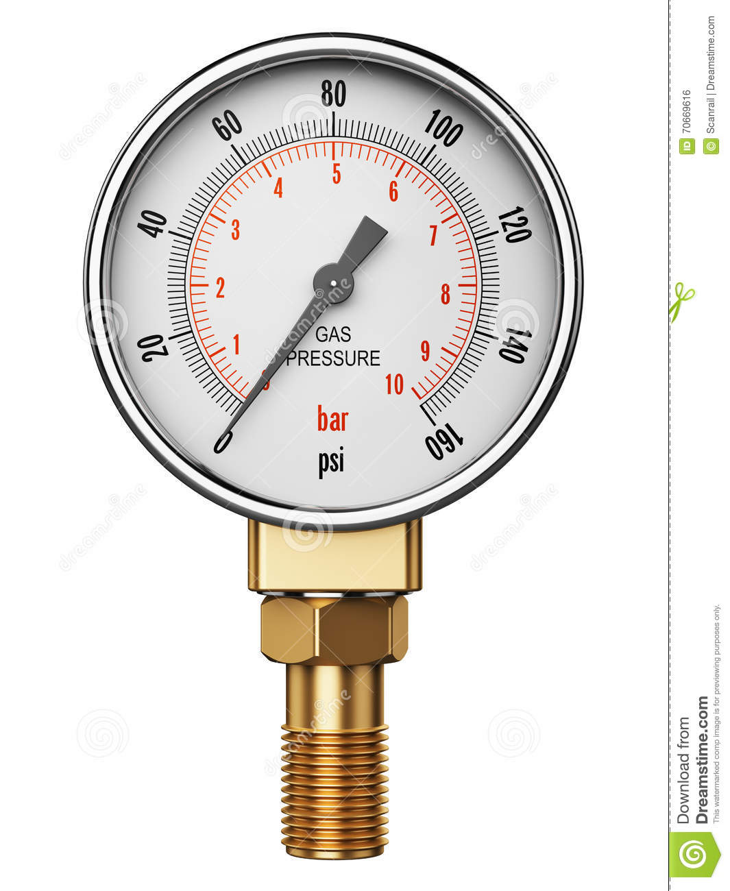 High Pressure Industrial Gas Gauge Meter Or Manometer Stock ...