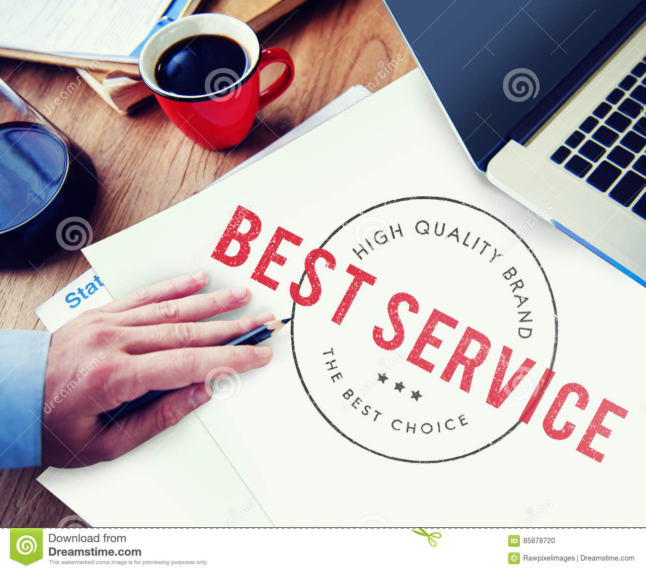 High Quality Best Service Graphic