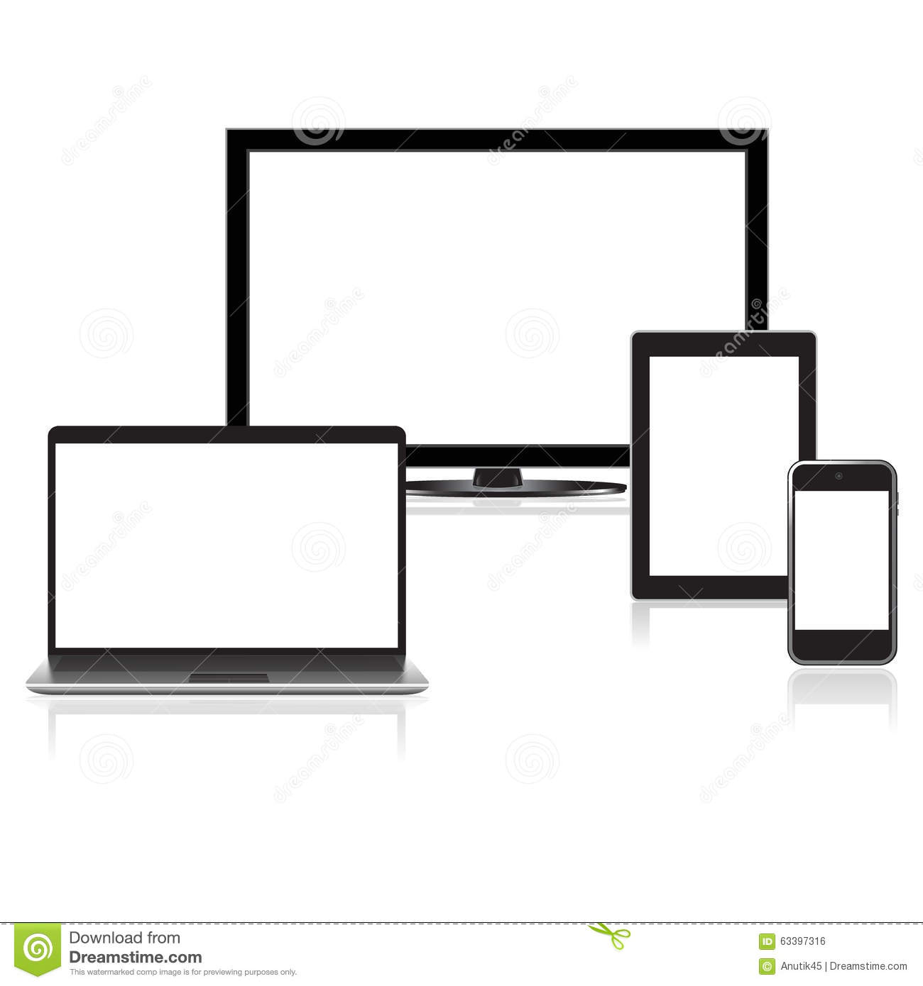 High quality electronic devices illustration collection