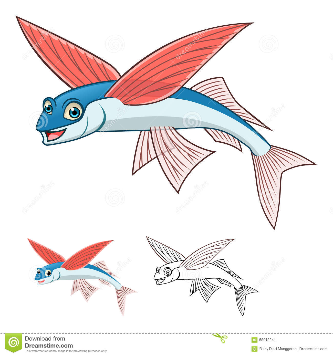 flying fish cartoon - photo #6
