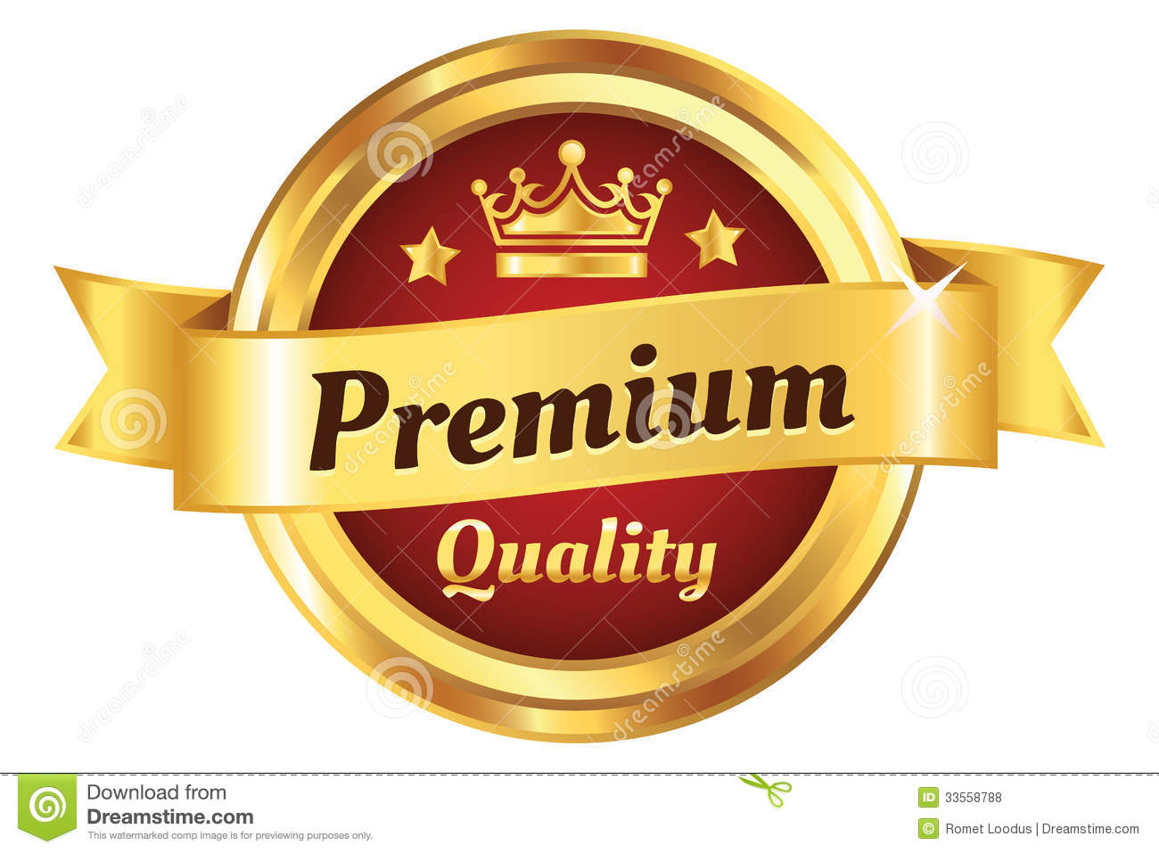 High Quality Golden Badge Royalty Free Stock Photos - Image: 33558788
