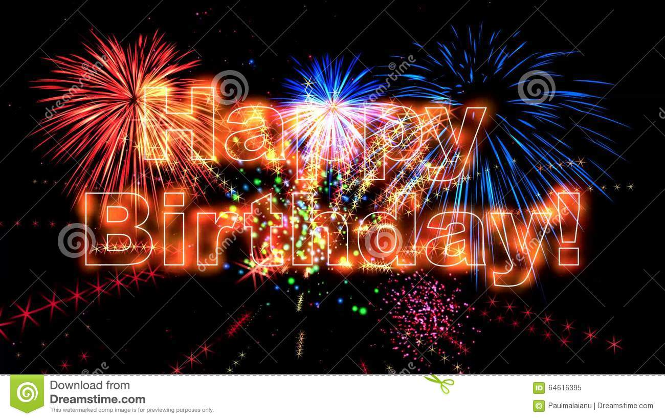 High Quality Happy Birthday Animation HD Stock Illustration