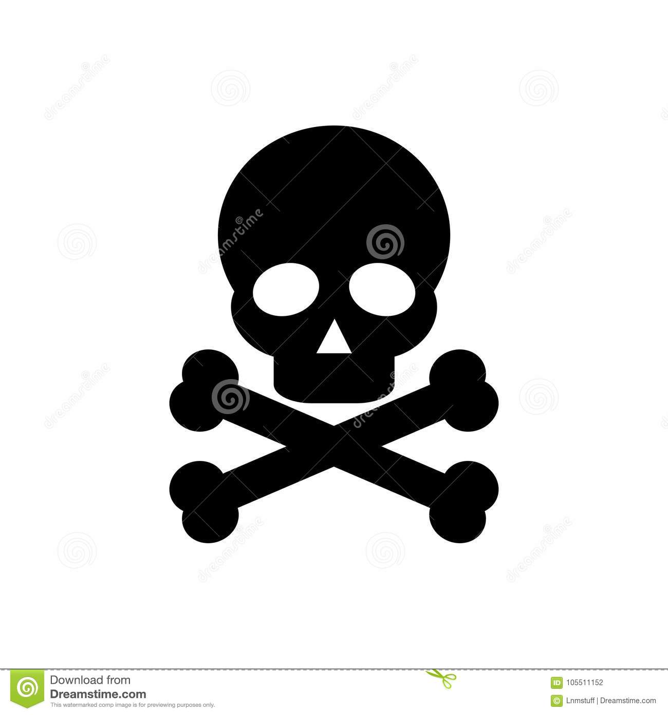 Skull And Bones Icon Isolated Png Stock Photo Illustration Of Face Bone 105511152
