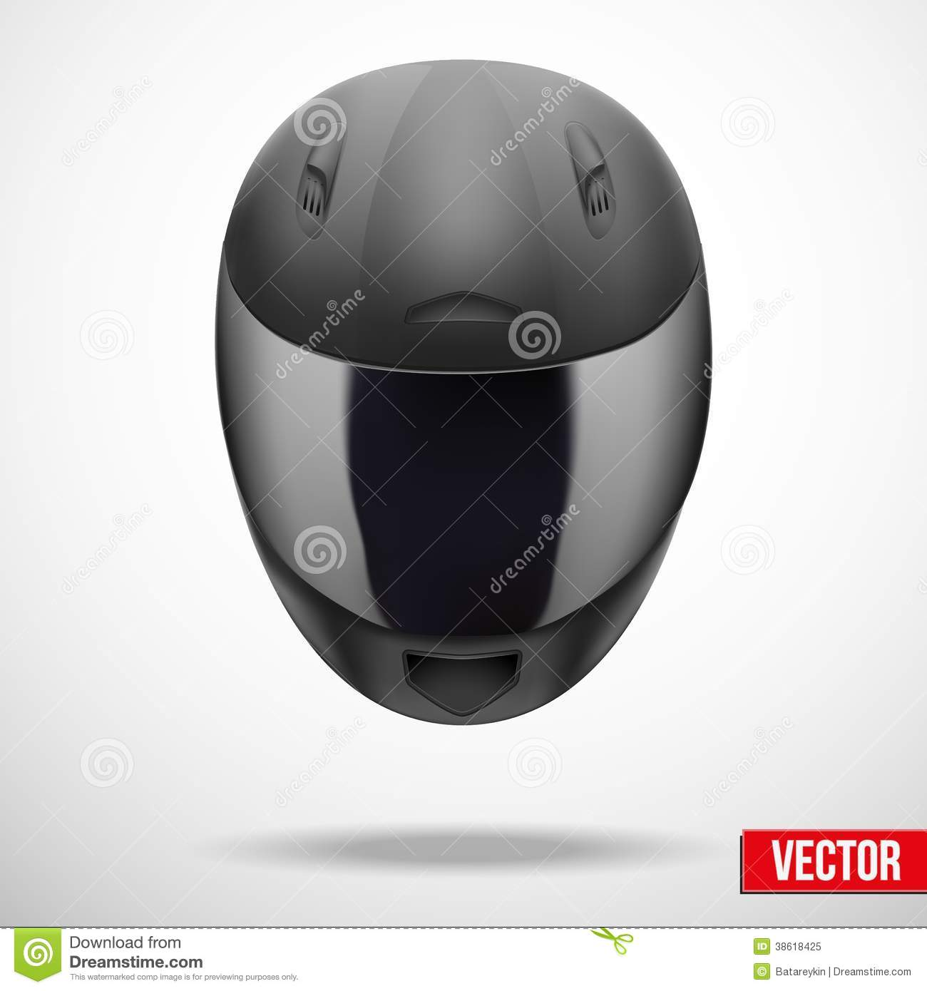 High Quality Light Gray Motorcycle Helmet Vector Stock