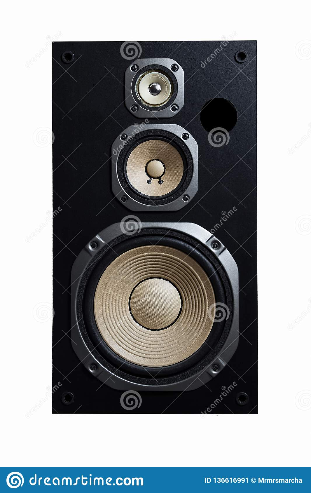 High Quality Loudspeakers Hifi Sound System In Shop For Sound Recording Studio Professional Hi Fi Cabinet Speaker Box Audio Stock Image Image Of Quality Power 136616991