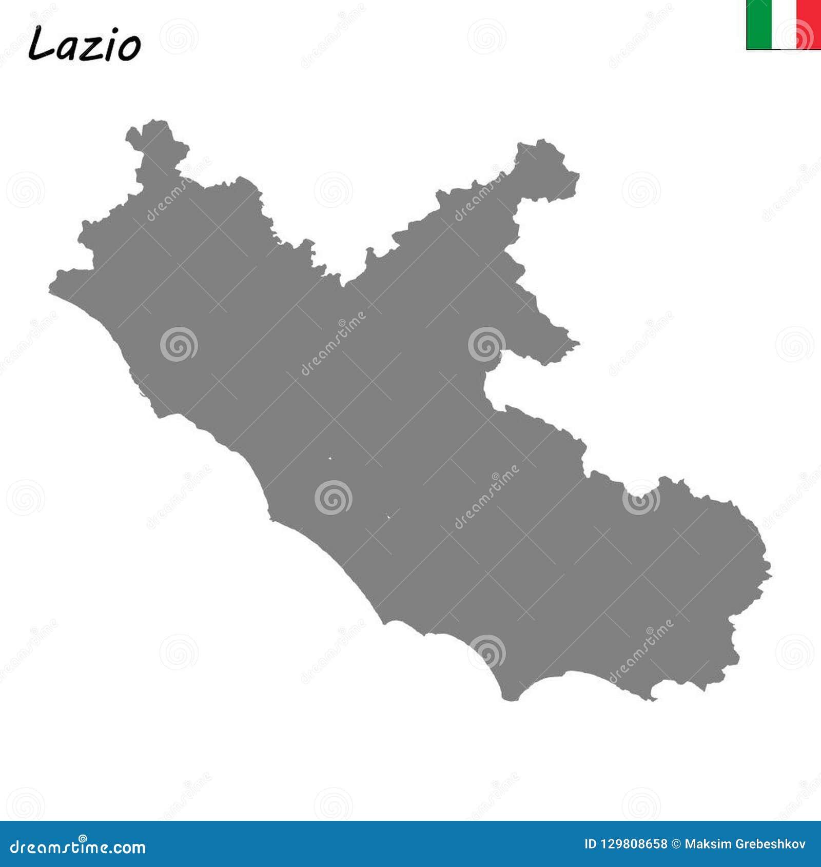 Region Italy Map.Map Of Region Of Italy Stock Illustration Illustration Of Italy