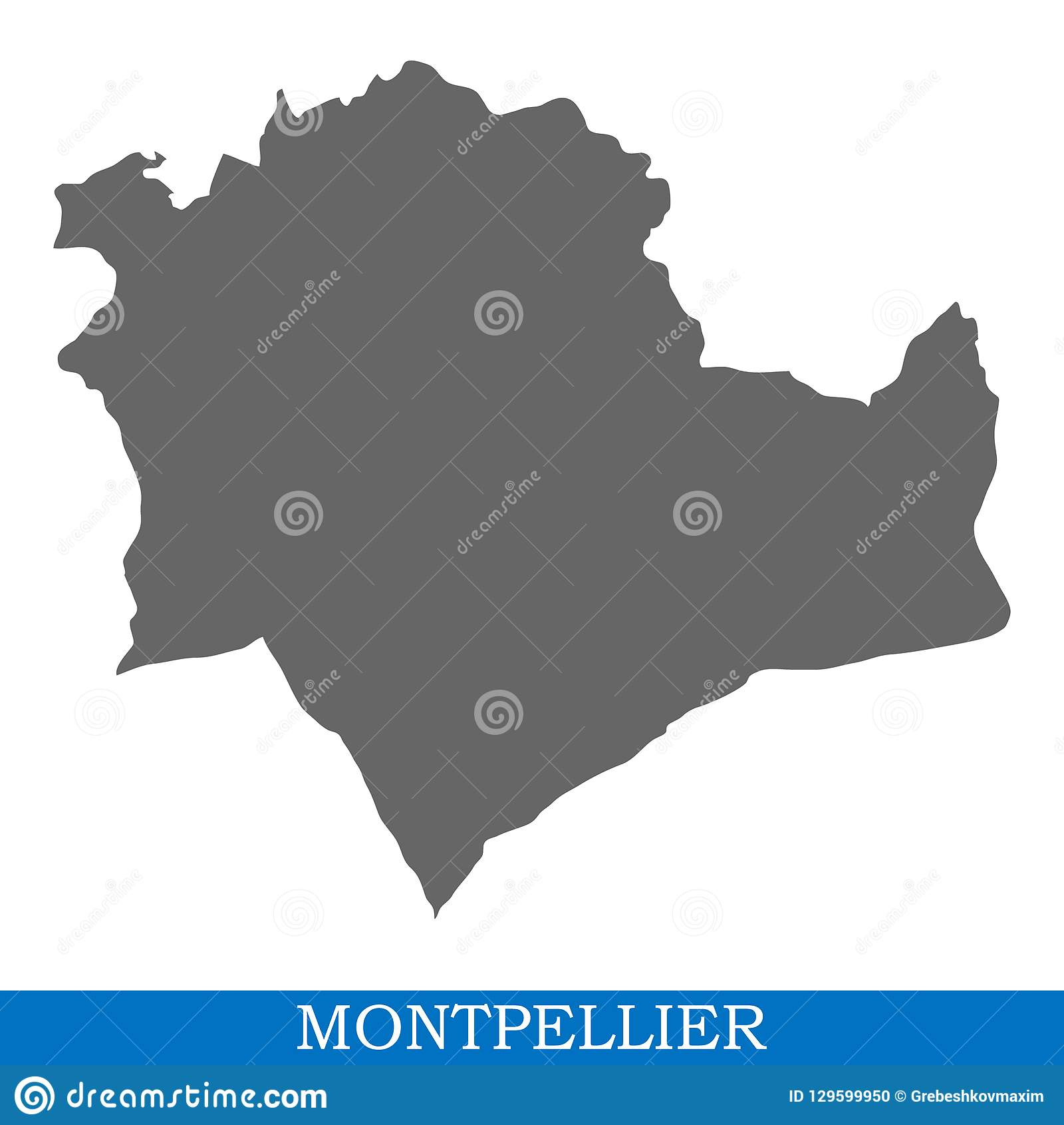 Montpellier Map Of France.High Quality Map City Of France Stock Illustration Illustration Of