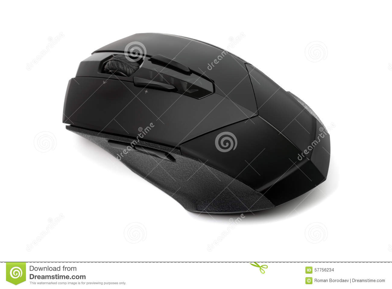 PC Computer Optical Wireless Mouse Isolated On White Background