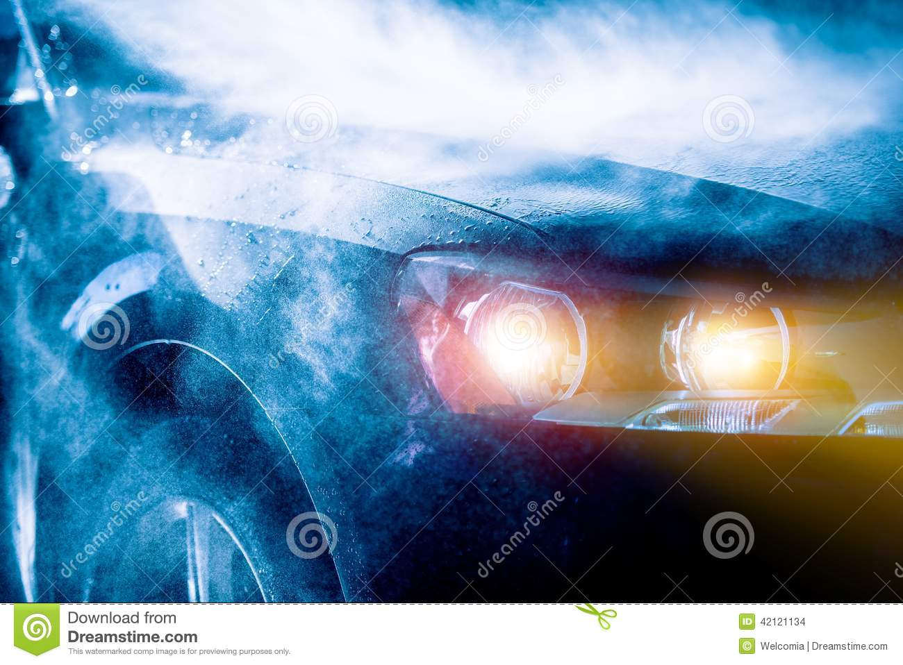 Truck Headlights In Rain : High rain car driving stock photo image of conceptual